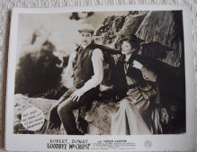 Goodbye Mr Chips, MGM FOH Still, Robert Donat, Greer Garson, '39 f